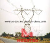 Megatro Horizontal de 500kv tipo una sobrecarga del circuito de la torre de la línea de transmisión