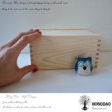 Caja de embalaje natural hecha a mano de madera de pino del diseño simple de Hongdao para el _E de la venta al por mayor del regalo