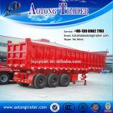 3 Semi Aanhangwagen van de Stortplaats van de Kipper van de Cilinder van de as de Hydraulische voor Verkoop
