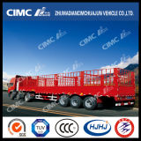 High-Duty 13000mm 3axle Semi-reboque de carga com duas estacas