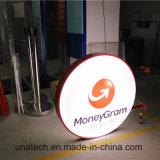 Sinal LED de anúncio em outdoor Painel Dinheiro Grama Banco fictício visor caixa de luz de vácuo de plástico