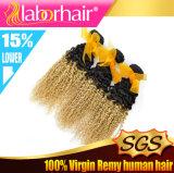estensioni ricce crespe dei capelli umani di Ombre dei migliori di qualità del grado 10A capelli peruviani del Virgin
