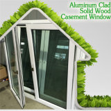 Окно Casement умеренной цены алюминиевое одетое деревянное для Vilia, сотни конструкции для окна Casement виллы
