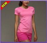 Bela moda T-shirt impresso para as mulheres (W181)