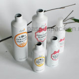 100ml бутылка белого цвета из алюминия для стрижки волос душ (PPC-AB-101)