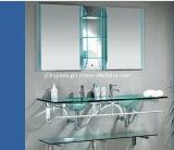 明確な磨く洗面所のキャビネットガラス