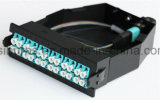 96cores 19 pouces 1u MPO Fiber Optic Patch Panel