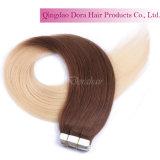 Bande de vente chaude dans la trame de cheveux Extension de cheveux humain brésilienne personnalisée