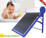 La presión no Tubo de vacío Sistema de calefacción de Agua Solar calentador de agua solar