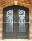 中国のベストセラーの鋼鉄ガラス前部鉄のドア