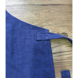 女性のためのカスタマイズされた方法青いリネン台所エプロン