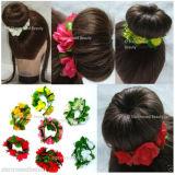 Flores y hojas Bun Garland (la cabeza diadema pelo Floral-103)