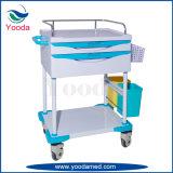 Medizinische Krankenhaus-Krankenpflege-Plastikkarre mit einem Fach