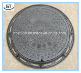 En124 D400 연성이 있는 철 프레임을%s 가진 둥근 맨홀 뚜껑