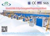 Cadena de producción acanalada automática usada de la cartulina 2200-5-Ply (2013)