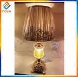 Lâmpada de tabela européia do estilo com máscara de lâmpada da tela