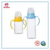 240ml Normal Neck PP Garrafa de leite para bebês com alça