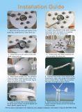 600 Вт 24V 48V горизонтальные Pmg ветровой турбины ветровой электростанции