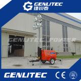 4*1000W de aanhangwagen zette het Mobiele Licht van de Diesel Toren van de Generator op