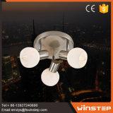 3개의 유리 크롬 천장 램프를 식사하는 새로운 형식 E14 칩