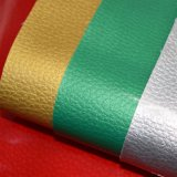 Litchiの穀物ののどPUの革、パテント袋の革、エナメルの革