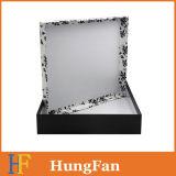 Rectángulo de papel de empaquetado de la ropa blanca negra de la impresión/rectángulo de regalo