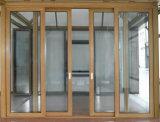 A tenuta d'acqua/insonorizzato/Calore-Isolare il portello scorrevole di alluminio della rottura termica di legno di colore