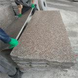 Granit rouge G687 Étapes extérieures de pierre Escaliers Escaliers en granit pour terrains de jeux