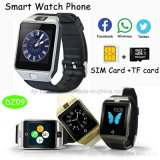 Don Android Bluetooth Cámara Reloj inteligente con sala de fitness Tracker Dz09