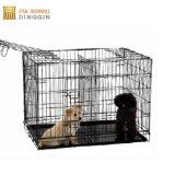 Varios perros de tamaño de la caja de acero plegable