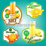 Kundenspezifische Drucken-selbstklebende Kennsätze für Früchte