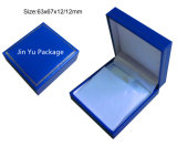 [رترو] زرقاء هبة مجوهرات [بكينغ بوإكس] مع [غلد فويل] حارّ يختم علامة تجاريّة