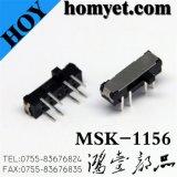 高品質8pinのすくいのタイプスライドスイッチDpdtのトグルスイッチ(MSK-1156)