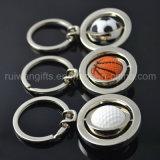 Trousseau de clés en gros promotionnel en métal du football (MKC101)