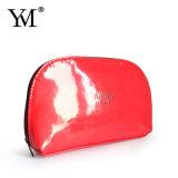 Mini sac cosmétique rouge en gros brillant de mode pour la fille
