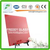 vidrio pintado rojo del vidrio/arte de 5m m/vidrio decorativo