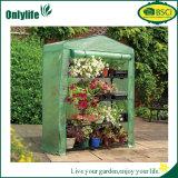 Serre chaude pliable de plastique de jardin de bâti de PC d'Onlylife 4-Tier