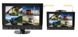 "12V-24V 4pin CCD Reversing 4X Camera +7 "" Split Quad Rear View TFT LCD Monitor"