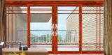 Раздвижная дверь алюминия цвета роскошного шикарного способа деревянная