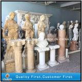 Wit/Geel/Beige/Zwart/Grijs Graniet/Marmeren Beeldhouwwerk, de Gravure van de Steen
