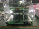 Hw-500産業ガラス甘い食糧ウォーマーの表示ショーケース