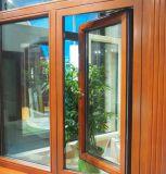 高品質の木製の覆われた熱壊れ目のアルミニウム開き窓のWindows