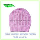 高品質の方法黒の冬の刺繍のニットの帽子