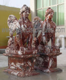 Высеканная скульптура мраморный статуи каменная высекая для украшения сада (SY-X1059)