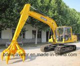excavador medio de la correa eslabonada de la maquinaria de construcción 15ton con Grasper