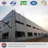 Almacén ligero prefabricado de la estructura de acero con la oficina de la administración