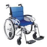 Présidence de roue pliable en aluminium de matériel neuf d'hôpital pliant le fauteuil roulant manuel