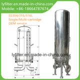 SS316 het sanitaire Roestvrij staal van de Huisvesting van de Filter van de Patroon SS304 voor de Vloeibare Filtratie van de Wijn van het Bier