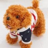 柔らかい犬の衣服が付いている動物によって詰められるプラシ天ペットおもちゃ