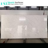 2018 Steen van het Kwarts van Carrara de Marmeren Geaderde met de Zuivere Witte Plakken van het Lichaam